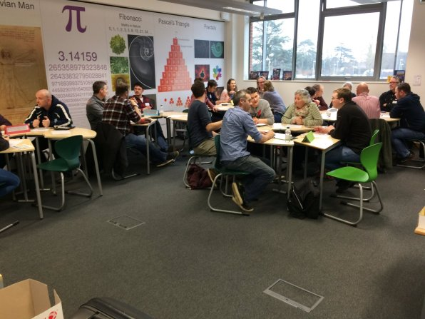 Colleagues attending the KS3 workshop